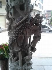 福建石雕廠 寺廟青石龍柱 廠家直銷
