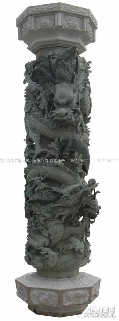 福建石雕廠龍柱批發 廠家直銷 5