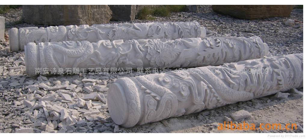 龙柱石雕批发 福建石雕厂直销 3
