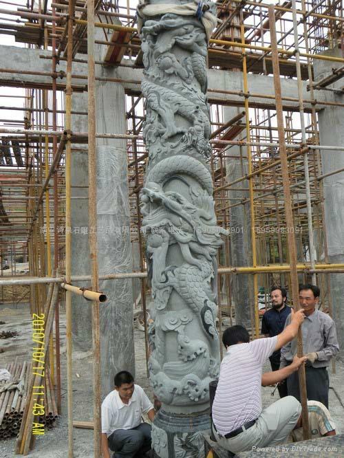 龙柱批发 福建石雕厂直销 2