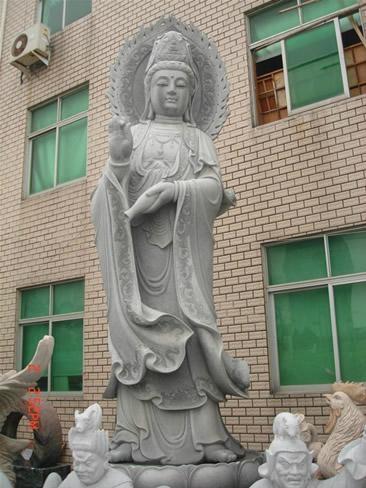青石佛像石雕观音雕像 1
