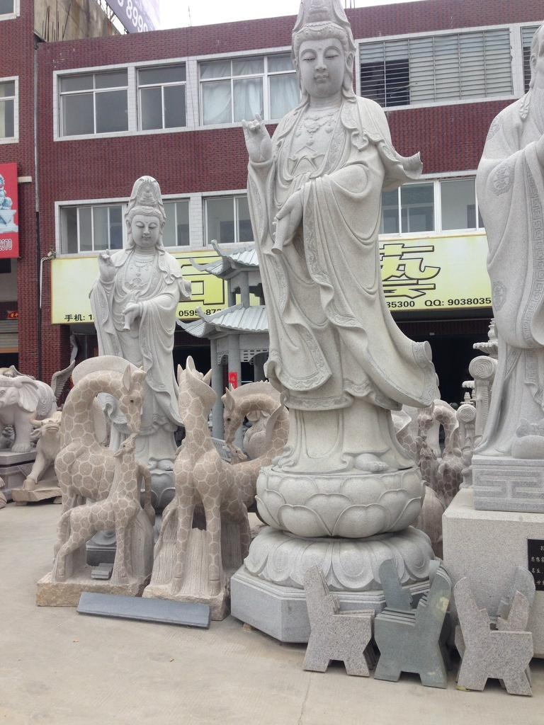 青石佛像石雕观音雕像 3