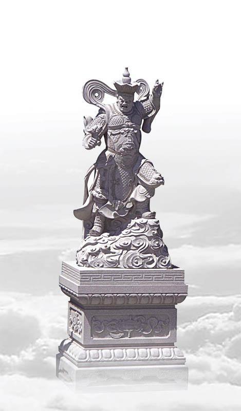福建石雕佛像雕刻四大金剛 1