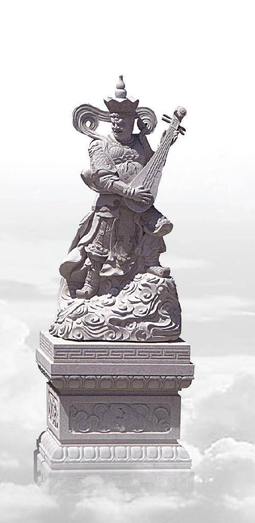 福建石雕佛像雕刻四大金剛 2