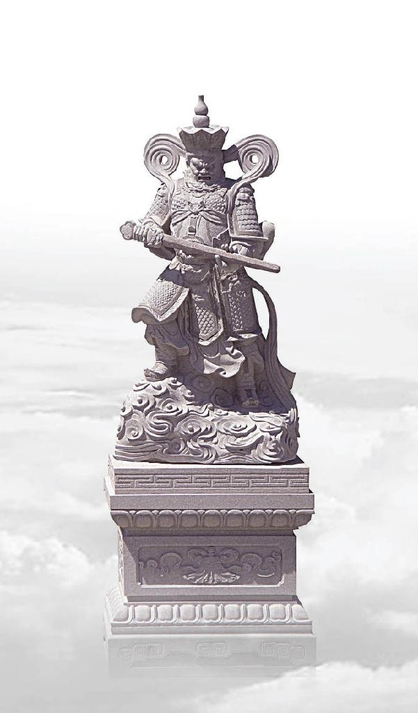 福建石雕佛像雕刻四大金剛 4