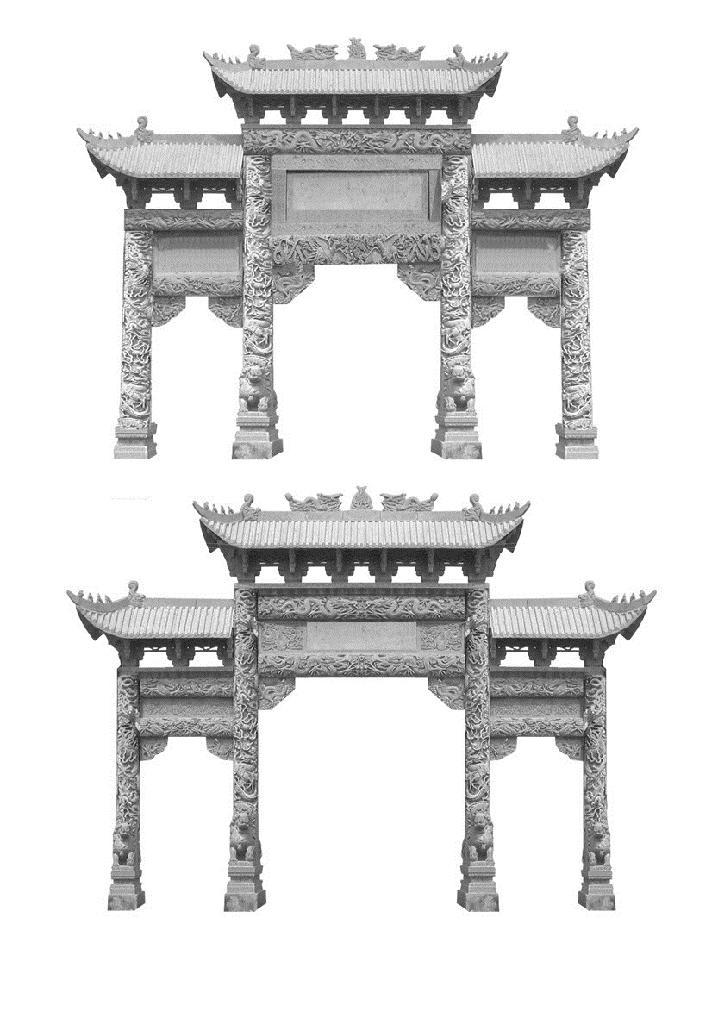 牌坊雕刻各类石材牌楼牌坊 4