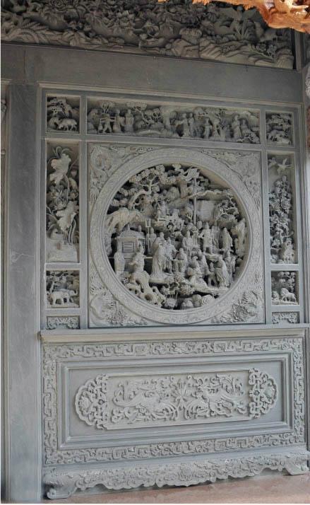 福建青石浮雕窗子 3