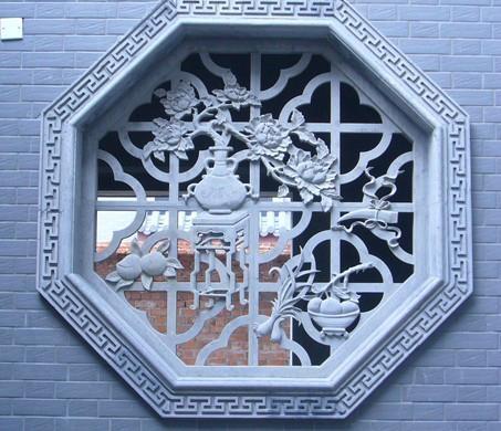 福建青石浮雕窗子 4