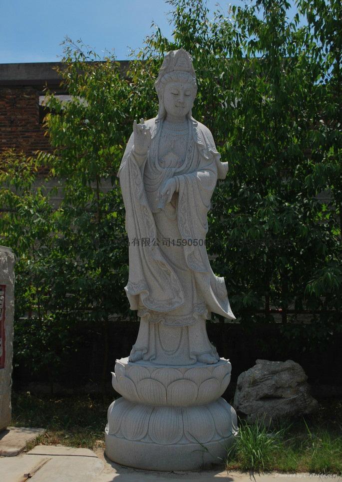 觀音石雕佛像雕刻 2