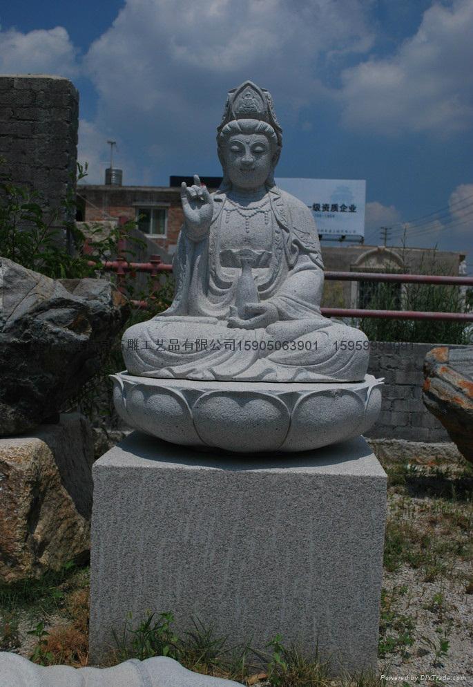 观音石雕佛像雕刻 3