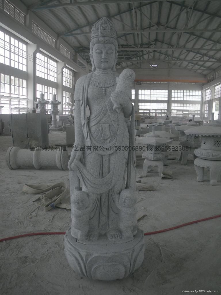 觀音石雕佛像雕刻 4