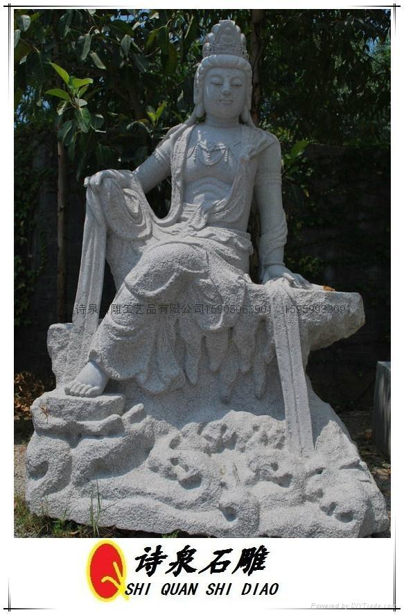 观音石雕佛像雕刻 5