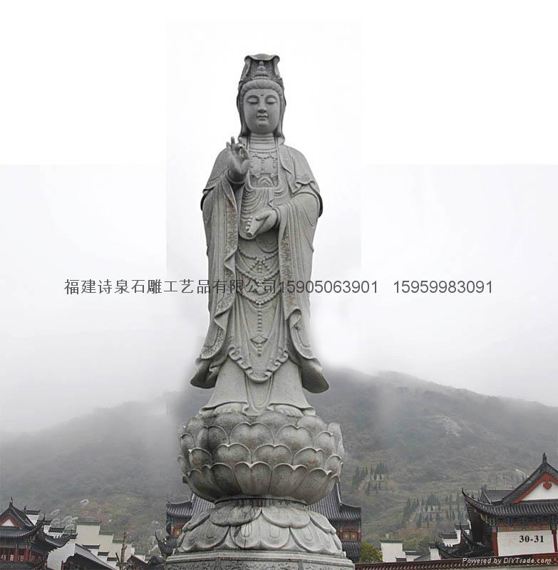 佛像石雕观音雕刻 2