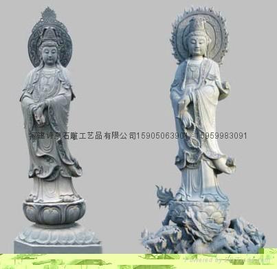 观音雕像佛像雕刻批发 2
