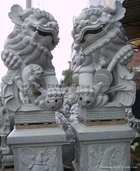 石雕狮子献钱狮 1