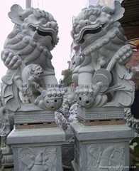 石雕狮子献钱狮