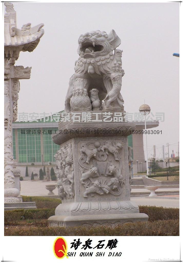 石雕狮子献钱狮 3