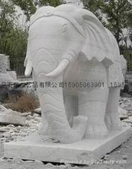 招财象石雕