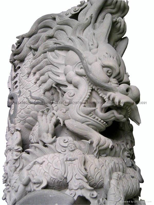 福建青石龍柱廠家直銷批發 16