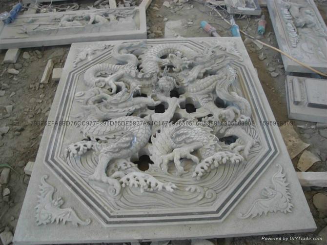 福建青石浮雕窗子 8