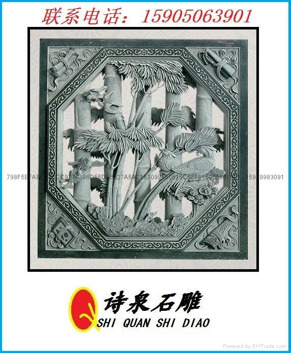 福建青石浮雕窗子 11