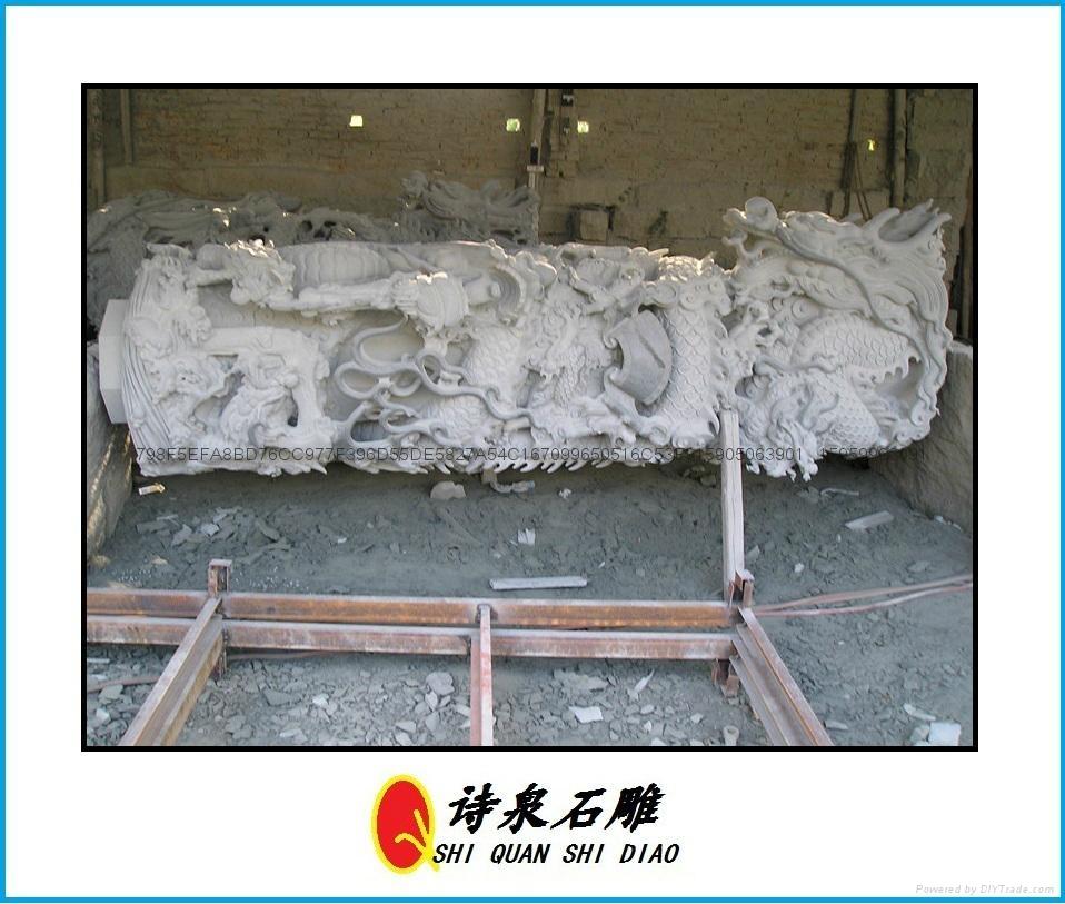 福建青石石雕龙柱厂家批发直销 10