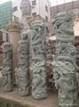 廠家直銷(寺廟雕刻)龍柱-青石