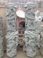 廠家直銷(寺廟雕刻)龍柱-青石盤龍柱