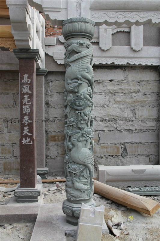 厂家直销(寺庙雕刻)龙柱-青石盘龙柱 5