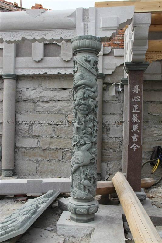 厂家直销(寺庙雕刻)龙柱-青石盘龙柱 6
