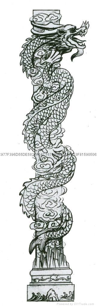 (廠家直銷)-青石龍鳳柱-福建石雕 14