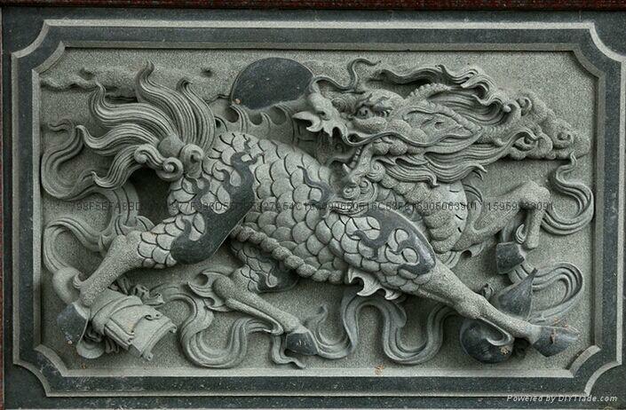 厂家直销-(寺庙雕刻)-青石精雕浮雕 2