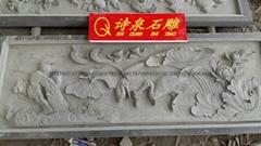 專業生產青石浮雕寺廟挂壁廠家直銷