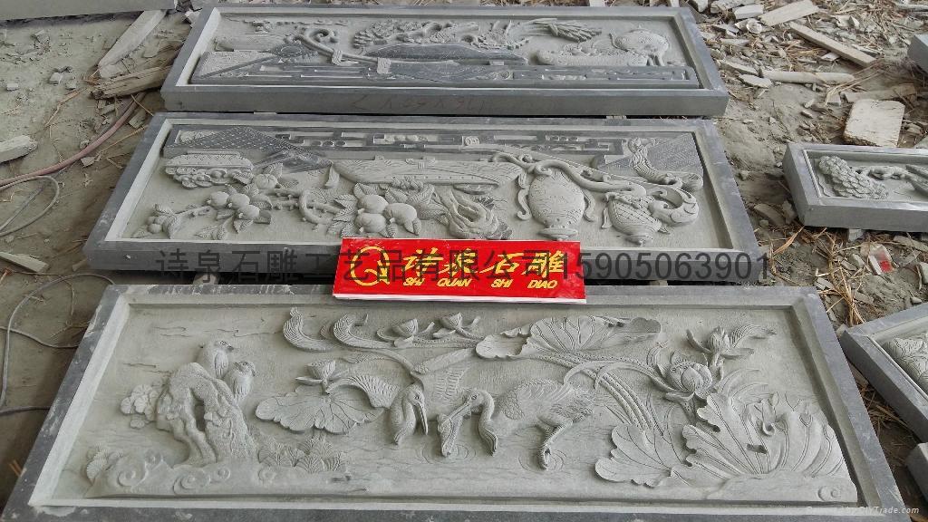专业生产青石浮雕寺庙挂壁厂家直销 6