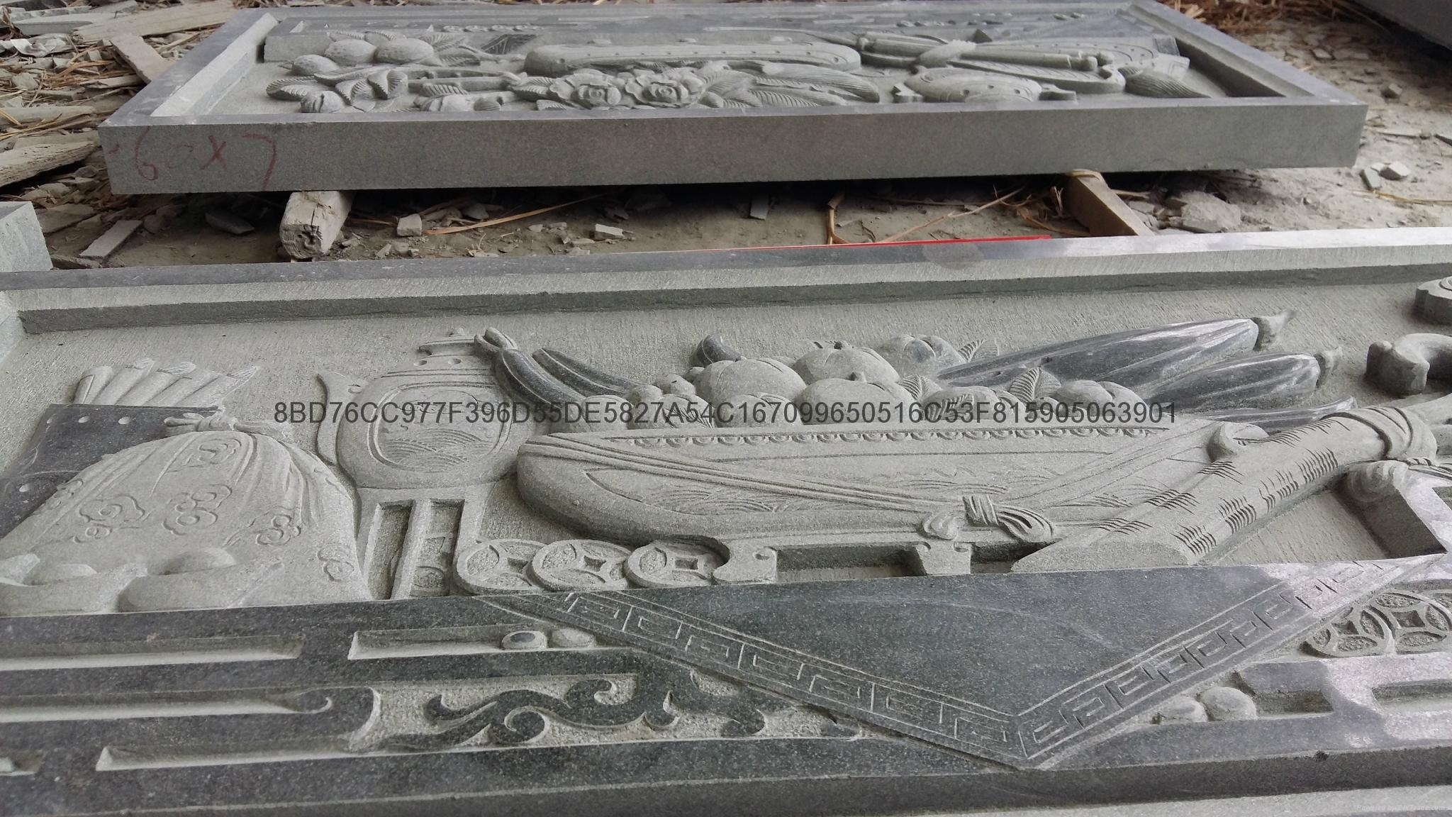 专业生产青石浮雕寺庙挂壁厂家直销 9