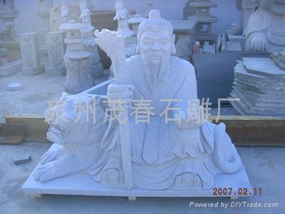 庙宇雕刻山神雕塑 1