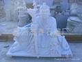 庙宇雕刻山神雕塑