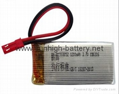 3.7V 1200mAh 25C Lipo Battery for MJX T64T04T05F28F29 Huanqi887 helicopter