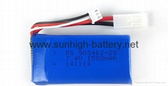 7.4V 1500mAh 20C Lipo Battery for RC helicopter Airplane racing boat
