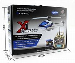 WLtoys V977 Power Star X1 6CH 2.4G Brushless RC Helicopter 3D Flybarless RTF