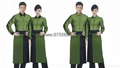 2014 winter green jungle new catering work clothes