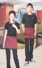 2014-2015年时尚日韩餐厅新款餐厅工作服