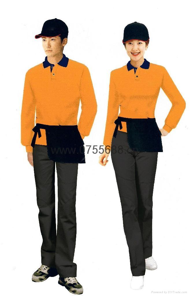 新款餐厅服务员工衣 1