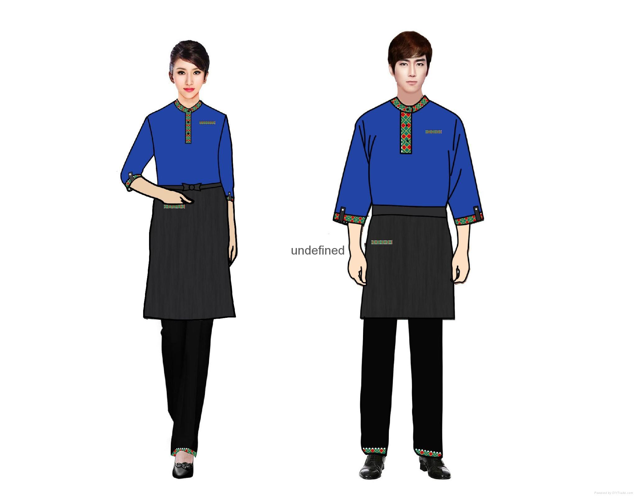 民族风餐厅工衣设计制作 1