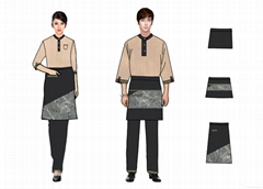 民族风格餐厅工衣设计制作