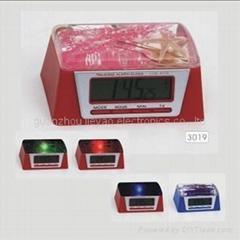 Talking clock with night light