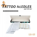 Set of tattoo needle and tip