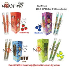 sour candy straw
