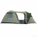 Camping tent for 5 person two rooms with