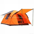 Family camping tent with living room and